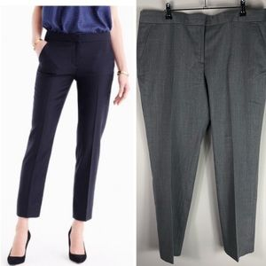 J. Crew Wool Trouser Crop Paley Pants Gray 14